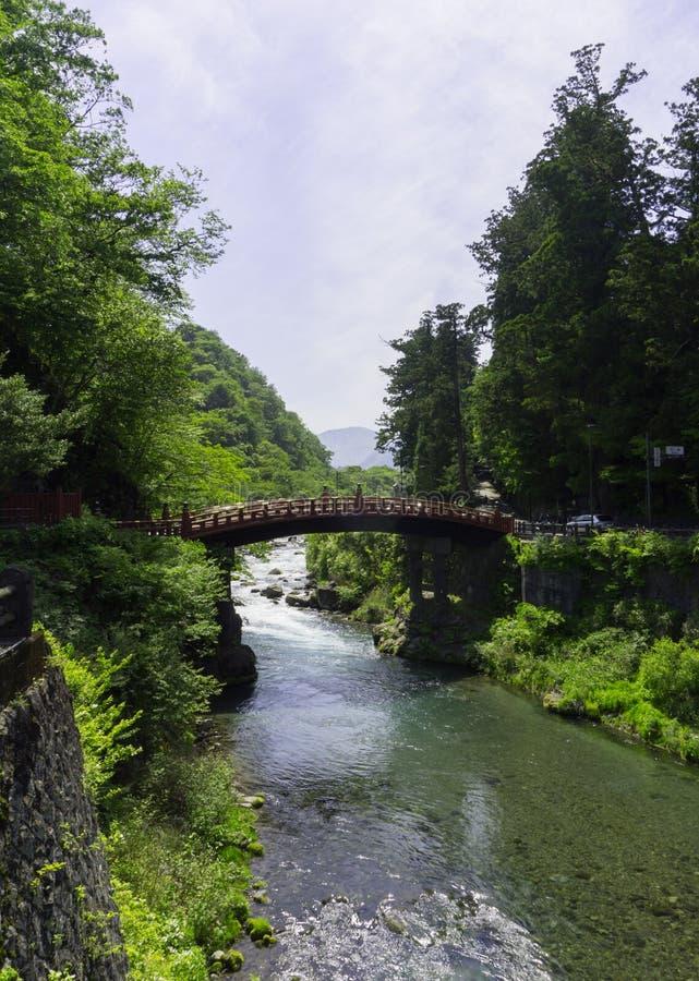 Shinkyo (passerelle sacrée) à Nikko, Japon image libre de droits