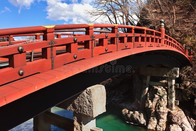 Shinkyo (ponte sagrado) em Nikko, Japão fotografia de stock royalty free