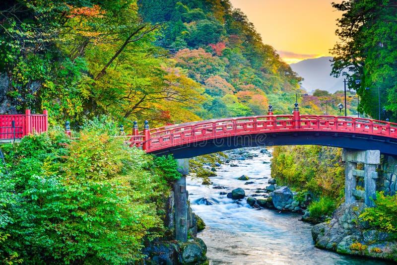 Shinkyo Sacred Bridge in Japan royalty free stock photography