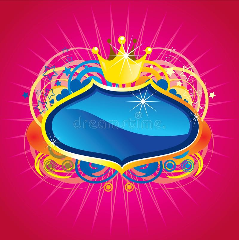 Shinning blue crest stock illustration