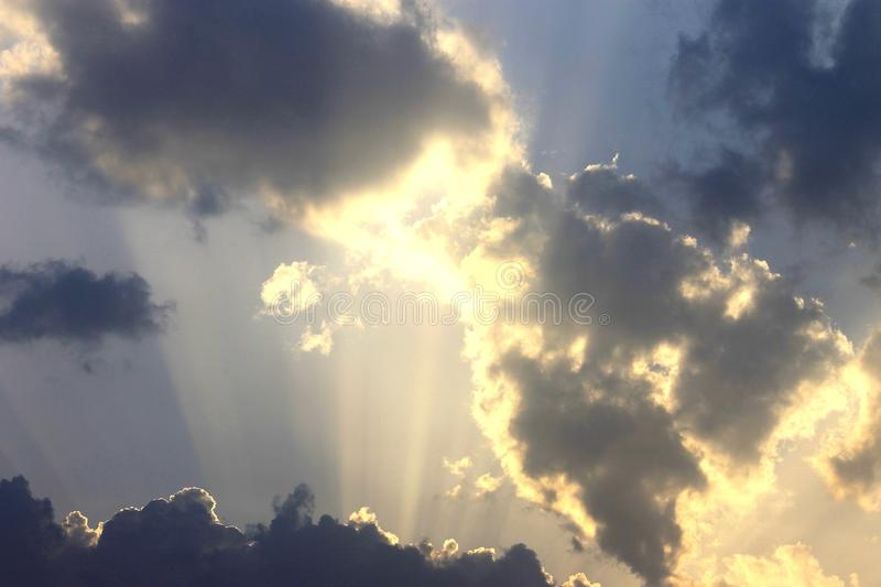 Shinning clouds royalty free stock photography