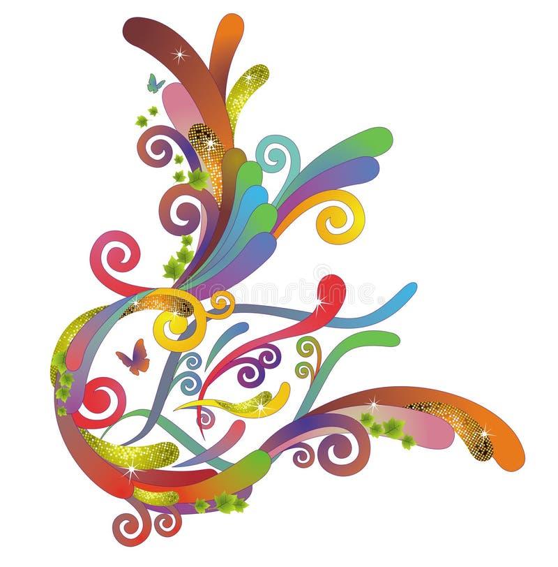 Shinning flow pattern. Created by Adove Illustrator cs royalty free illustration