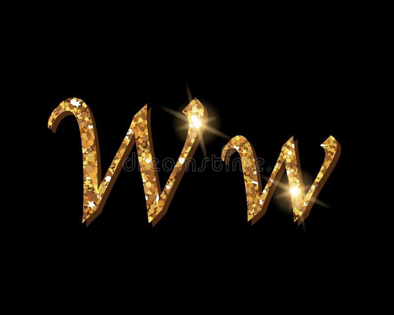 Shinning Golden Luxury Typographic Alphabet Fonts Stock Vector