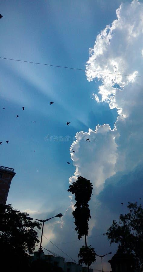 Shinning niebo zdjęcia royalty free
