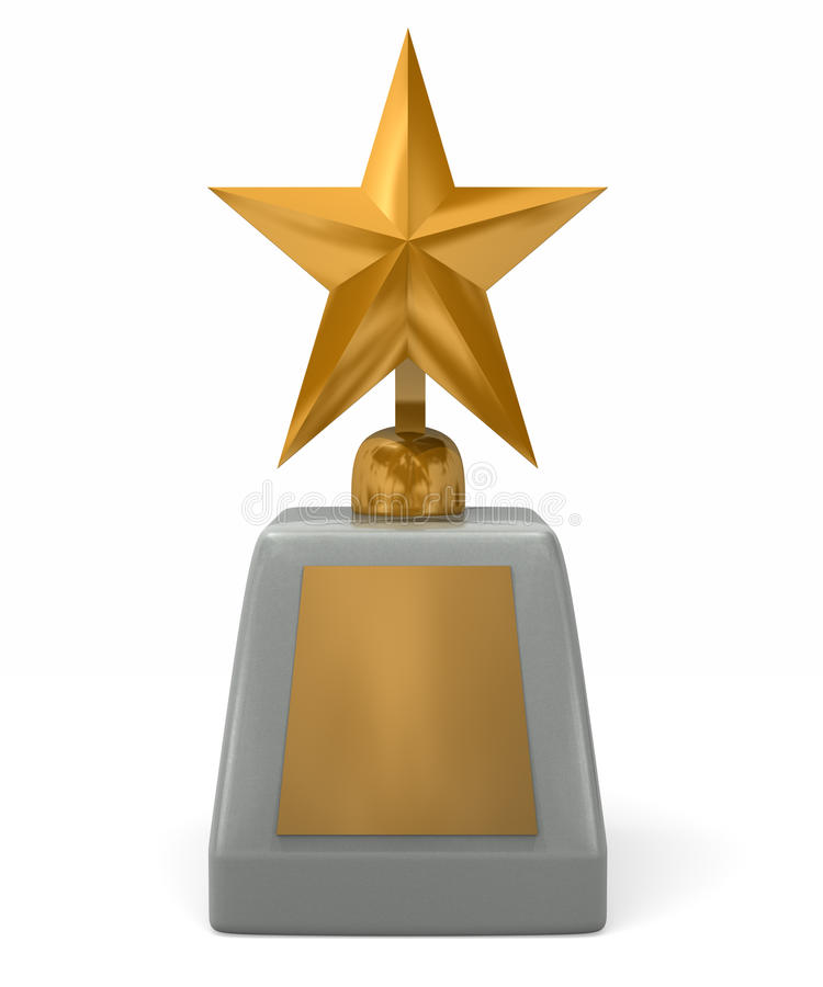 Shinning Star Award royalty free stock photos