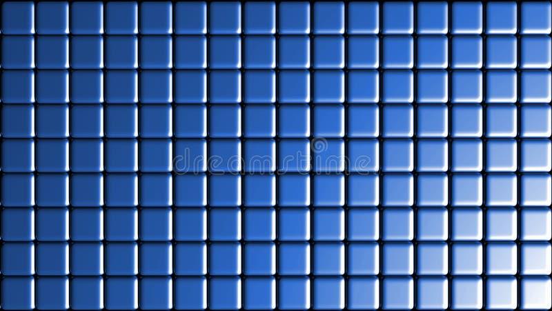 Shinny Błękitnego płytki siatki tło ilustracji