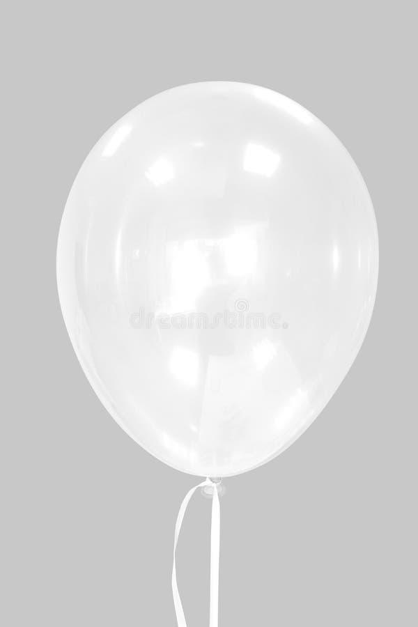 shinny bielu balon obraz stock