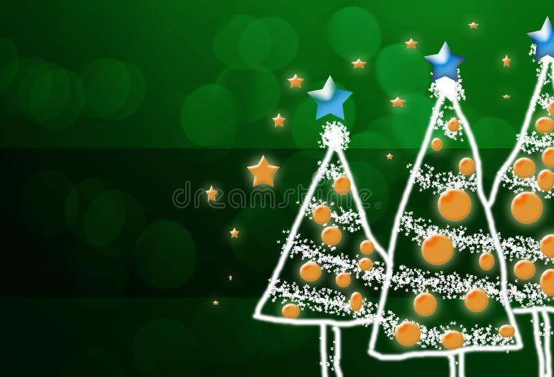 Shinny l'albero di Natale, fondo astratto illustrazione vettoriale