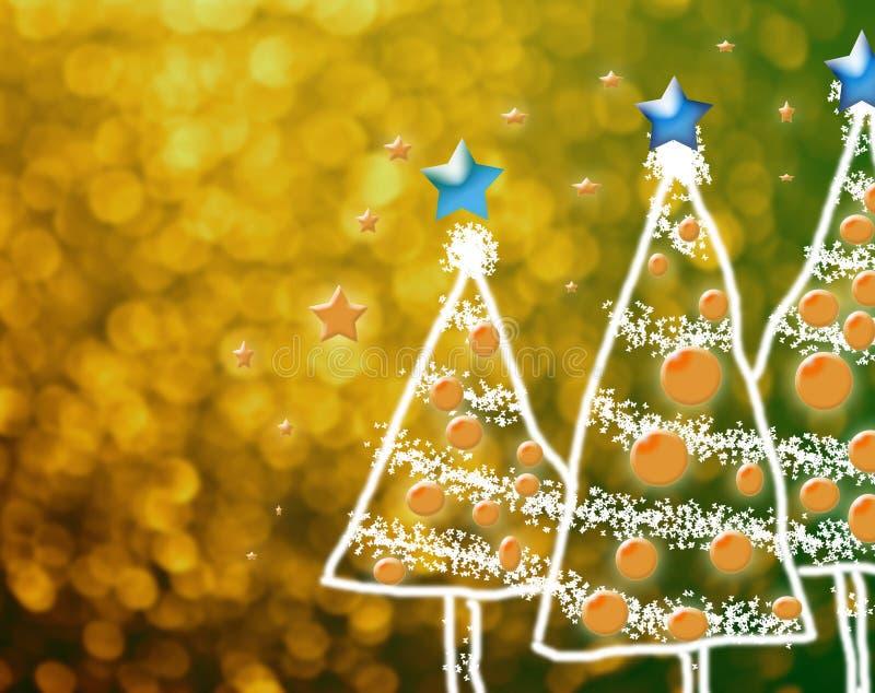 Shinny l'albero di Natale, fondo astratto illustrazione di stock