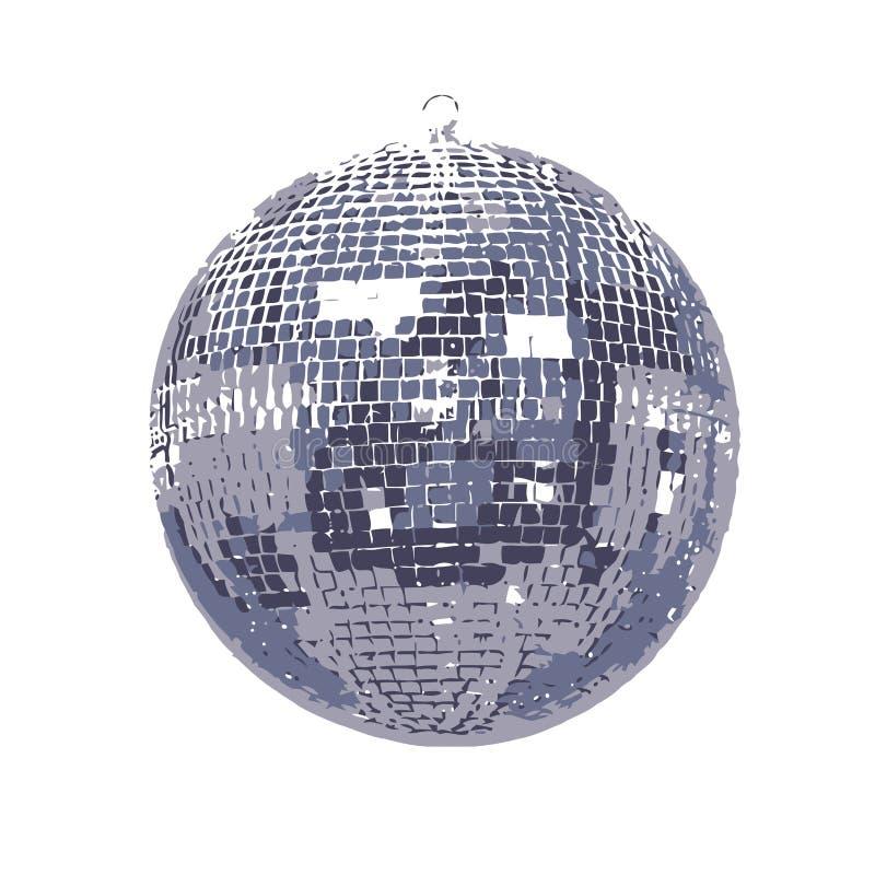 Shinny la sfera della discoteca dello specchio illustrazione di stock