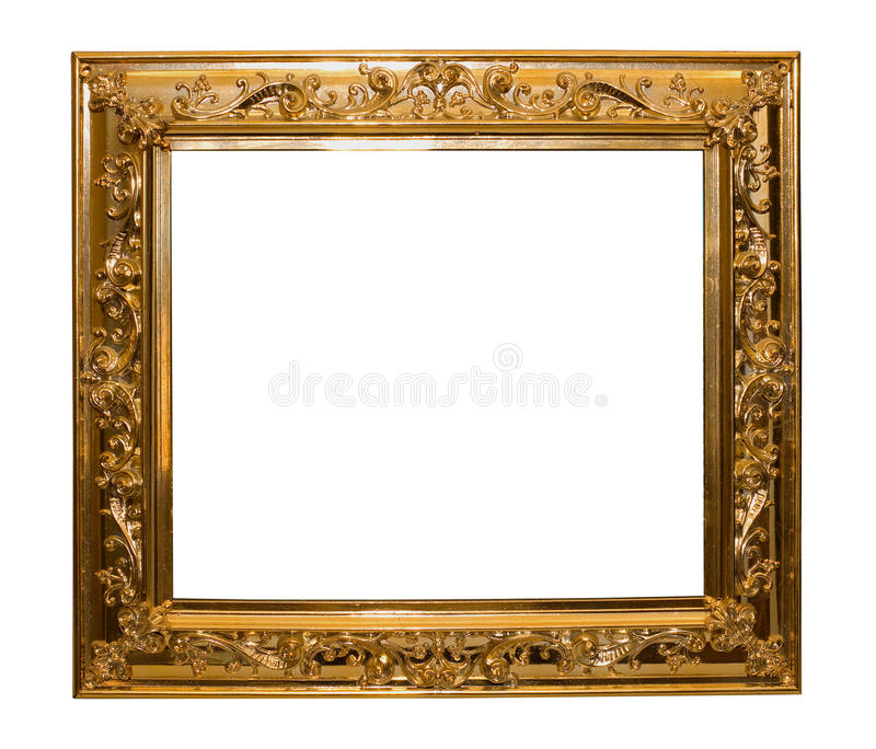 Shinny la trame d'or d'isolement image stock