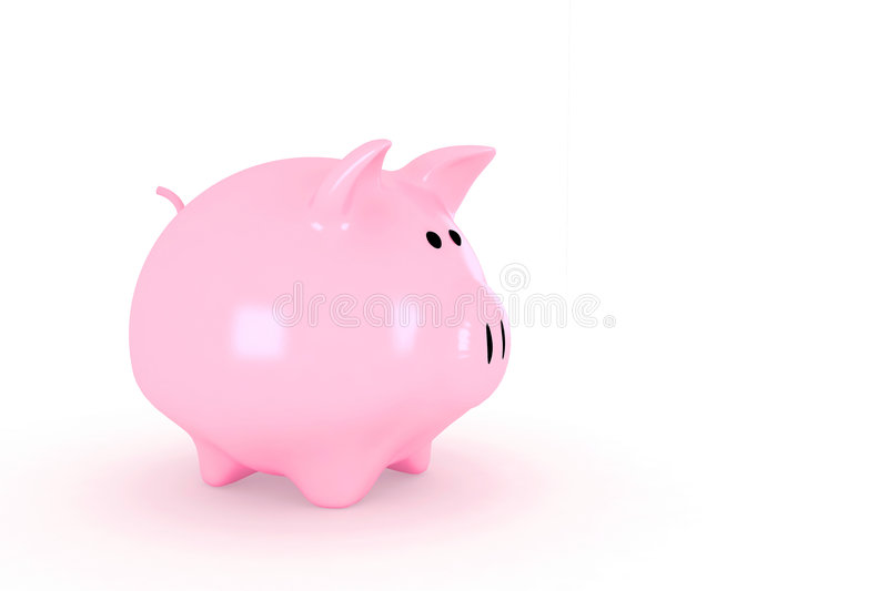 Download Shinny piggy bank stock photo. Image of nestegg, isolated - 3161028