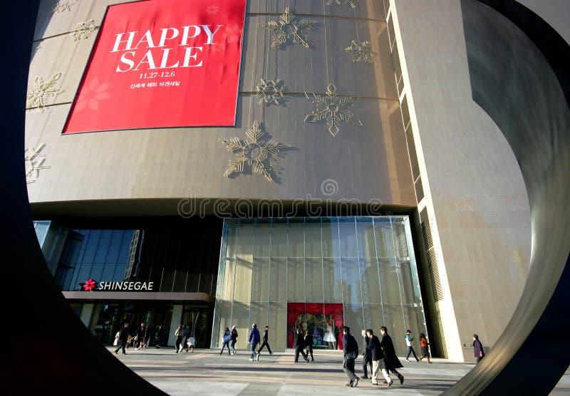 百货商店购物在韩国 免版税库存照片