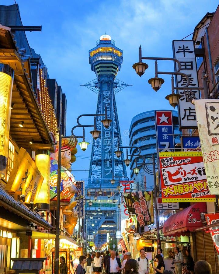 Shinsekai,大阪,日本 库存图片
