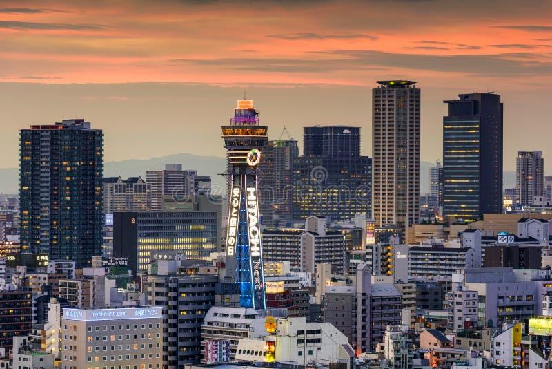 Shinsekai, Osaka Skyline royalty-vrije stock afbeelding