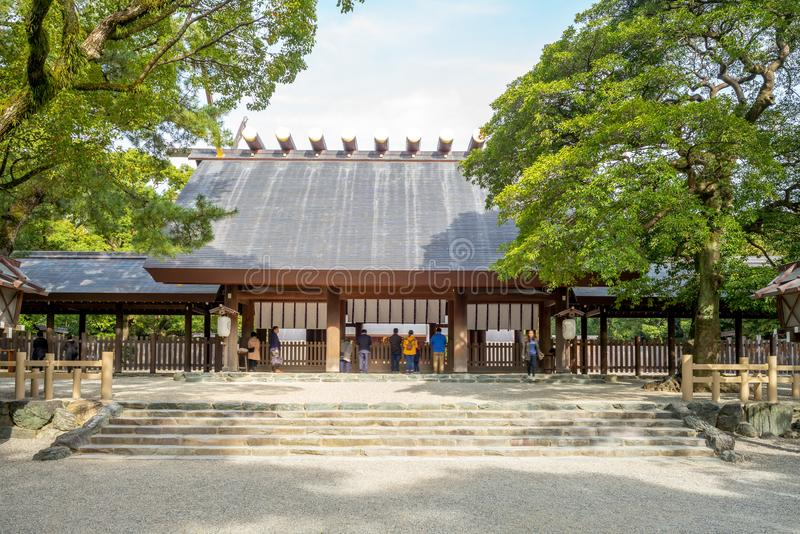 Haiden of Atsuta Shrine in Nagoya, Japan. A Shinto shrine traditionally believed to have been established during the reign of Emperor Keiko located in Atsuta-ku royalty free stock photography