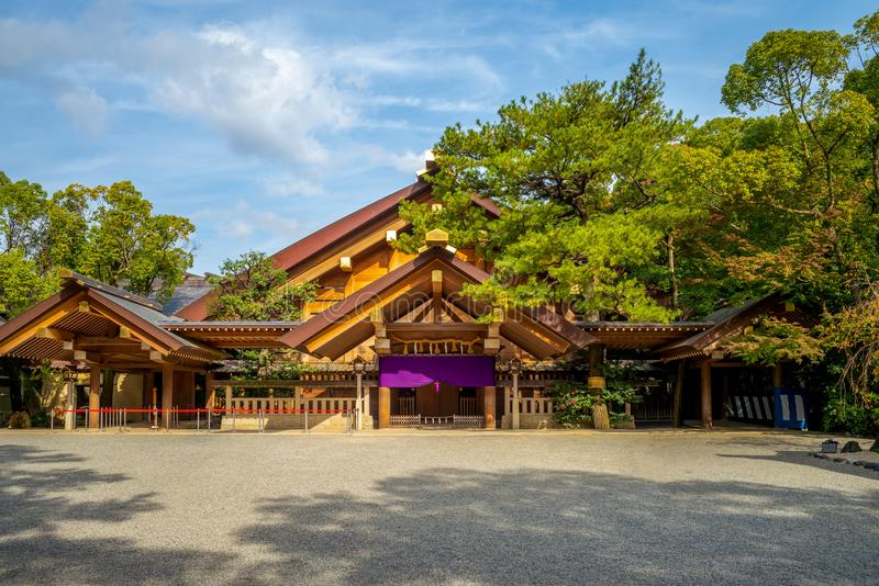 Kaguraden of Atsuta Shrine in Nagoya, Japan. A Shinto shrine traditionally believed to have been established during the reign of Emperor Keiko located in Atsuta stock image