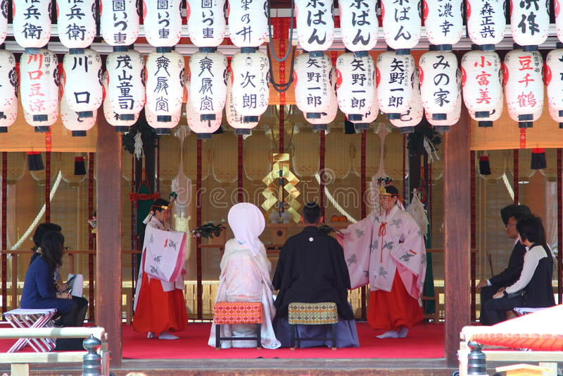 Shintobröllop royaltyfri fotografi