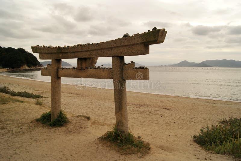 Shintoheiligdom op Naoshima-eiland, Japan royalty-vrije stock foto