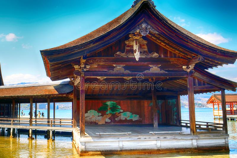 Shintoistischer Schrein Itsukushima, Miyajima, Japan lizenzfreies stockbild
