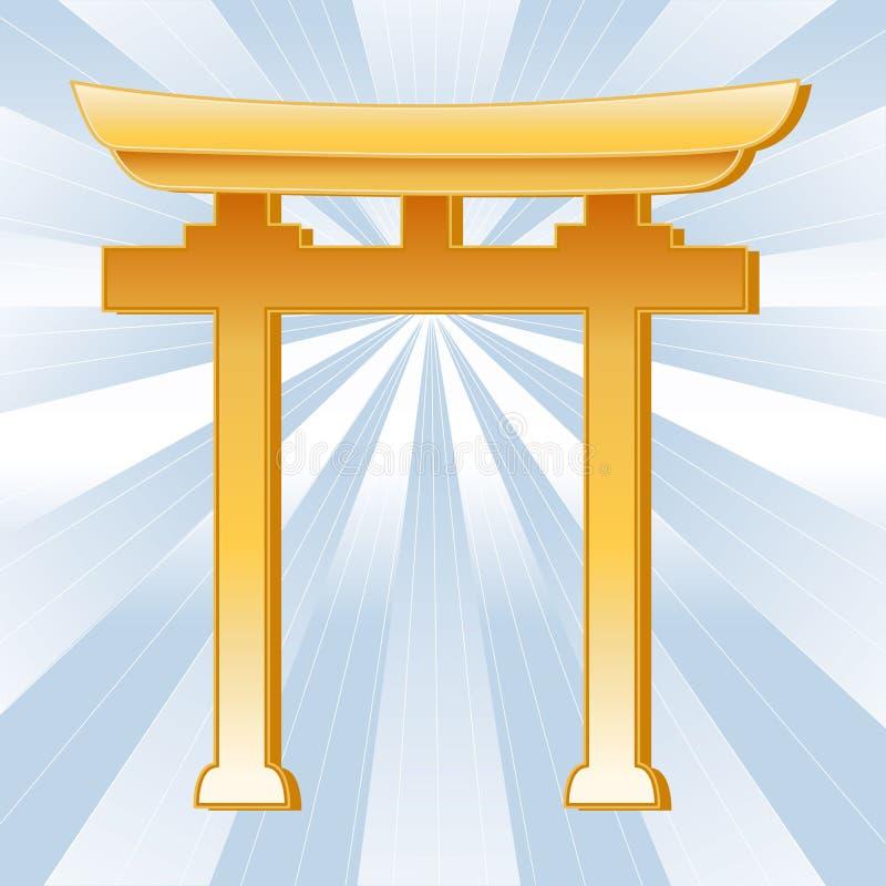 Shintoistisches Symbol stock abbildung