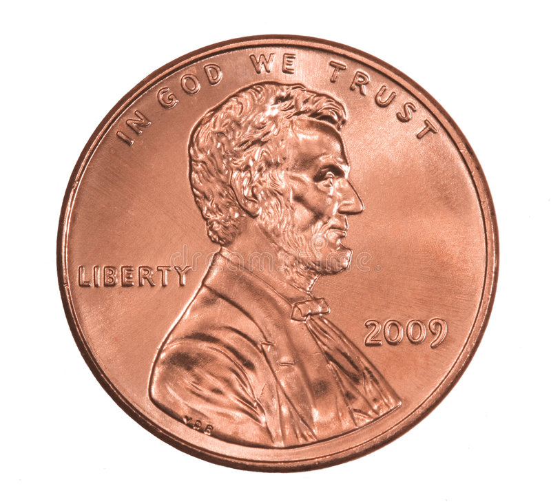 Shiny 2009 Lincoln Penny Stock Images