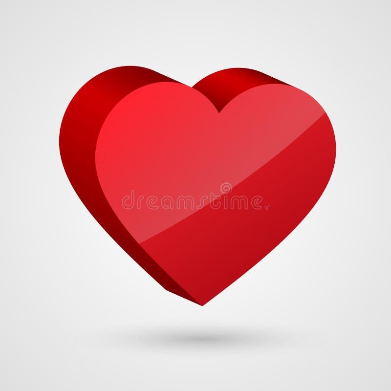 Free Shiny 3d Red Heart. Stock Photo - 49866250