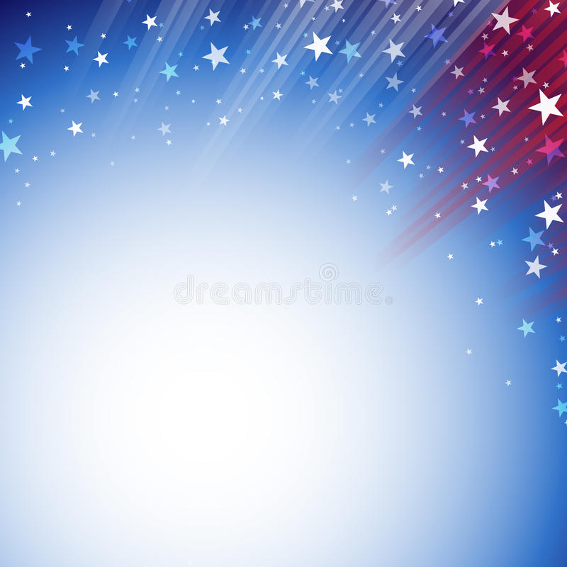 Shiny American national flag waving for Fourth of July vector illustration
