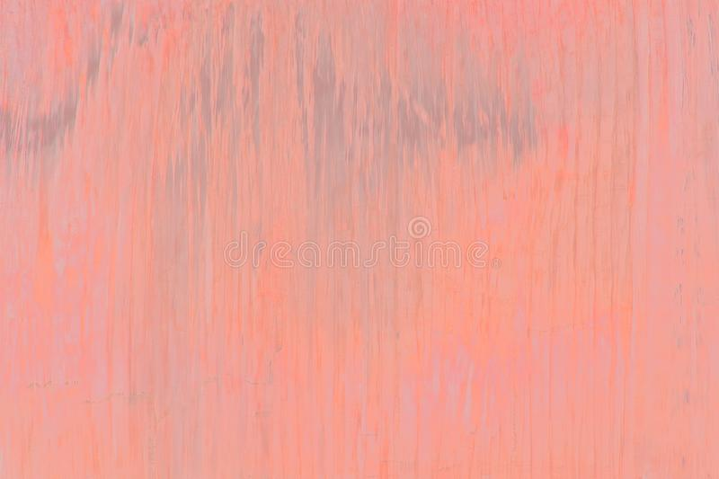 Shiny background of water falling. Toned in shades of trend color Living Coral stock photo