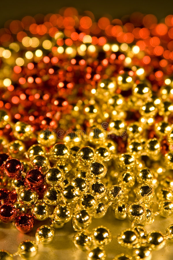 Shiny Beads For Background Christmas Design Eleme Stock Photos