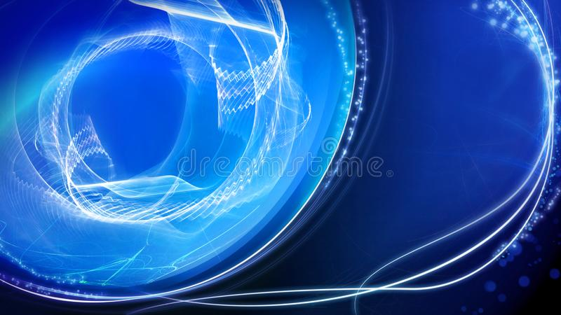 Shiny blue light effect background, abstract illustration. stock images