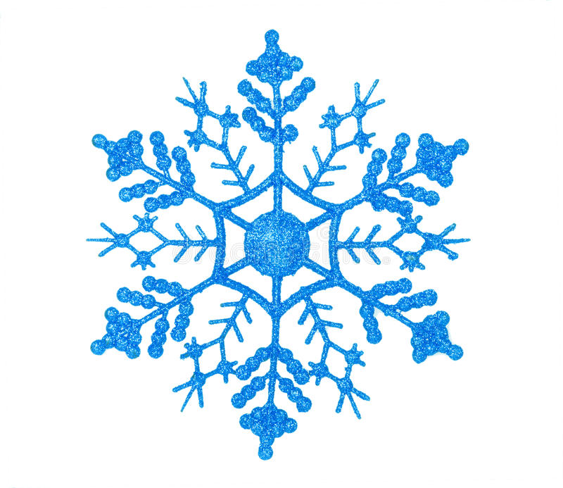 Shiny blue snowflake stock photos