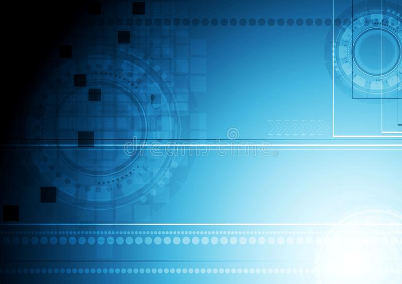 Shiny blue technology background vector illustration