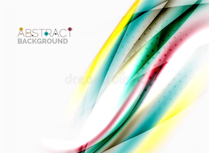 Shiny blurred line waves. Vector shiny blurred line waves vector illustration