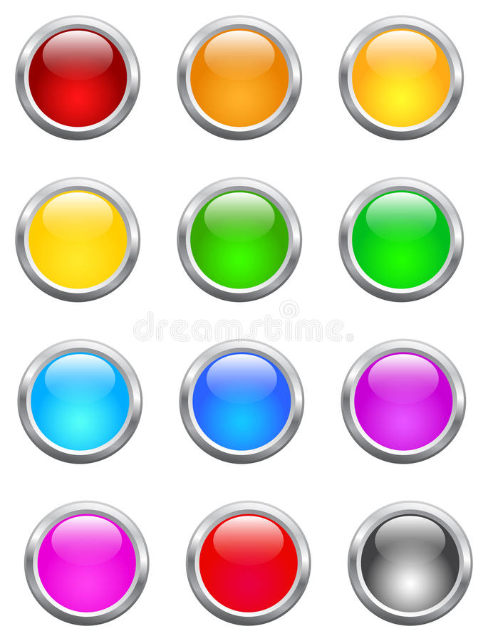 Shiny Buttons vector illustration