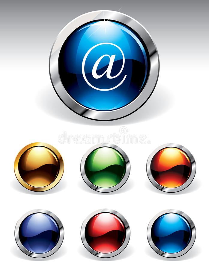Download Shiny Buttons stock vector. Illustration of elements, metallic - 9791533
