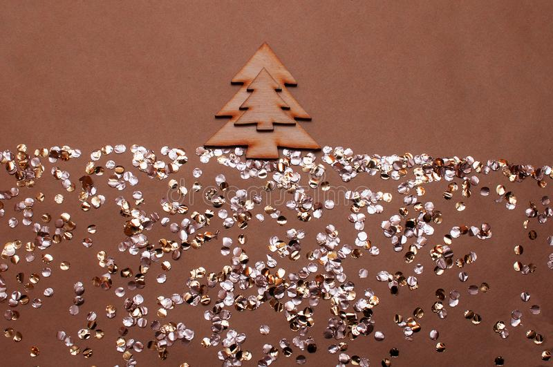 Shiny candy background and Christmas tree royalty free stock image