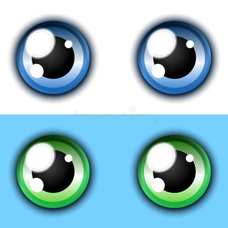 Shiny Cartoon Eye Collection Royalty Free Stock Photo