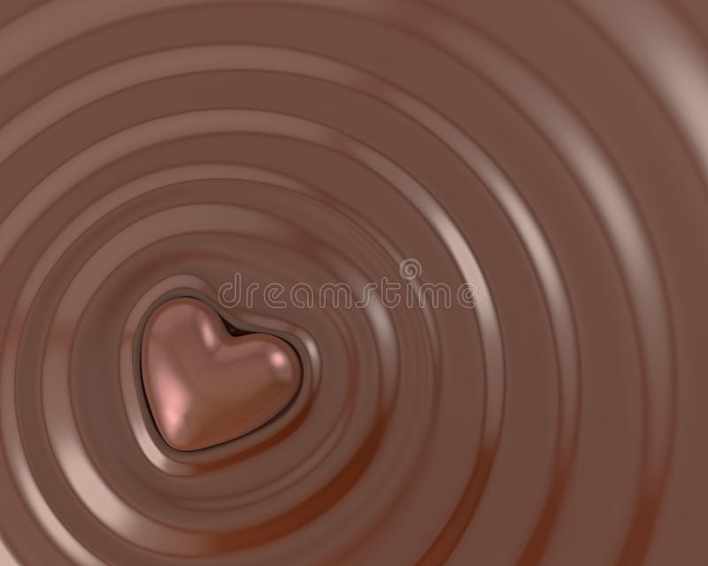 Download Shiny chocolate heart stock illustration. Image of candy - 26495742