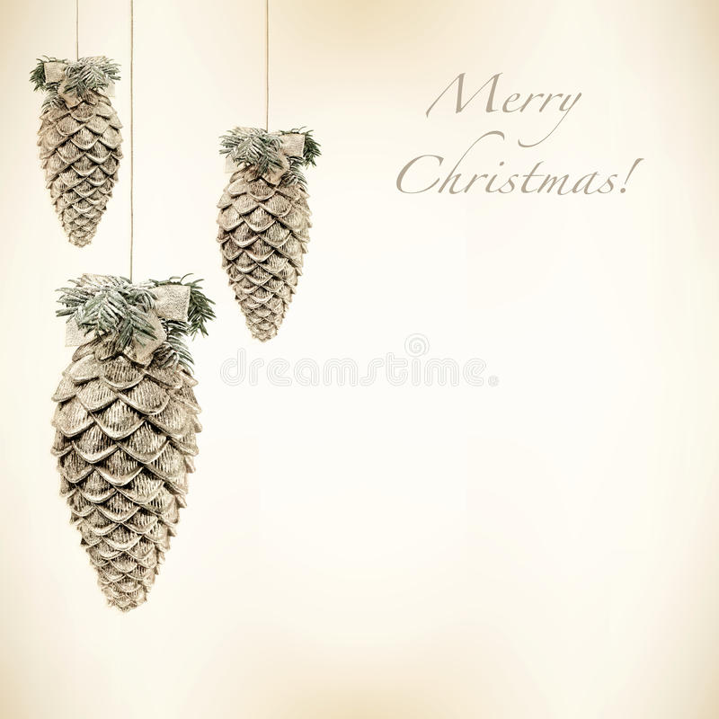 Download Shiny Christmas Baubles On A Retro Background Stock Illustration - Image: 33238628