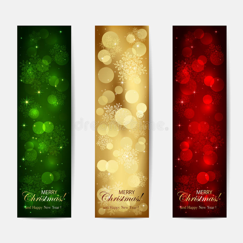 Shiny Christmas cards vector illustration