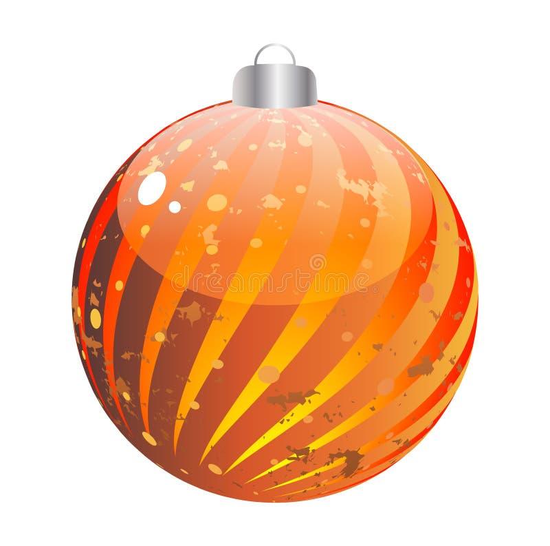 Shiny christmas globe vector illustration