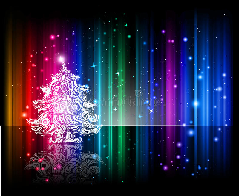 Download Shiny Christmas Night Background Stock Vector - Image: 16970878