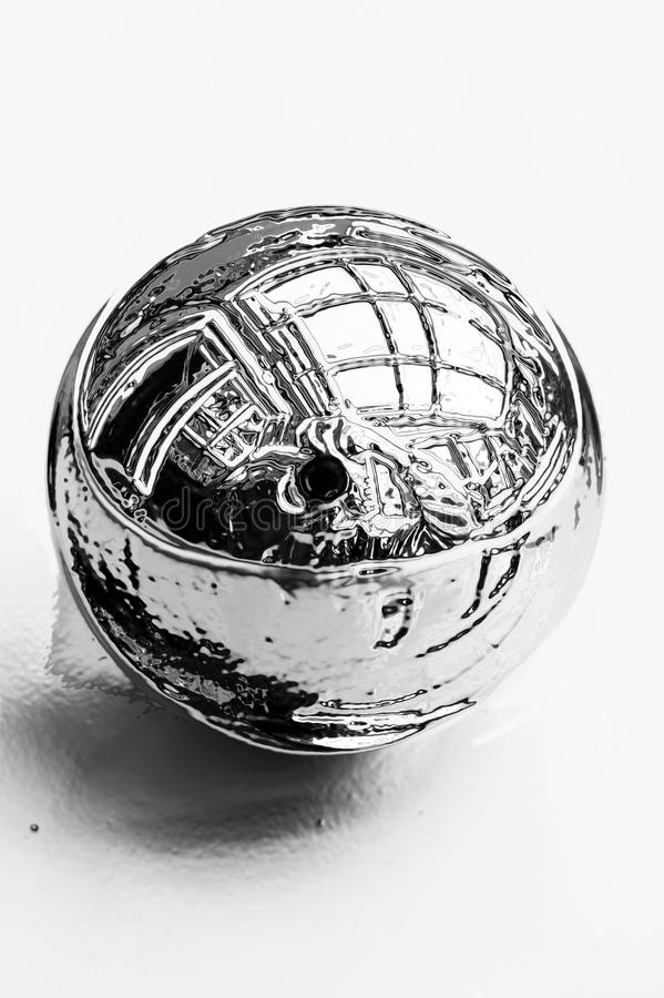 Shiny chrome ball stock image