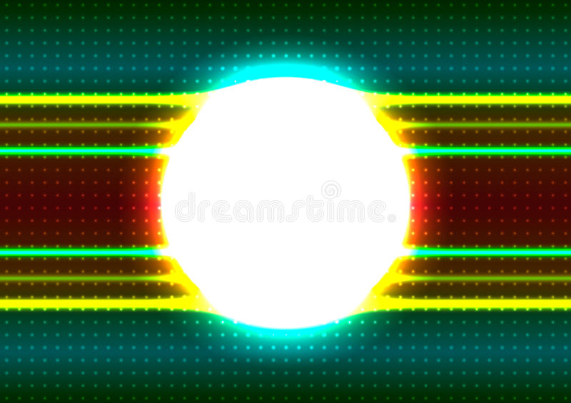 Shiny Circle Frame Stock Image