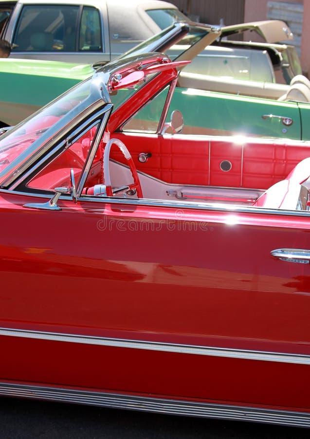Shiny classic cars stock image