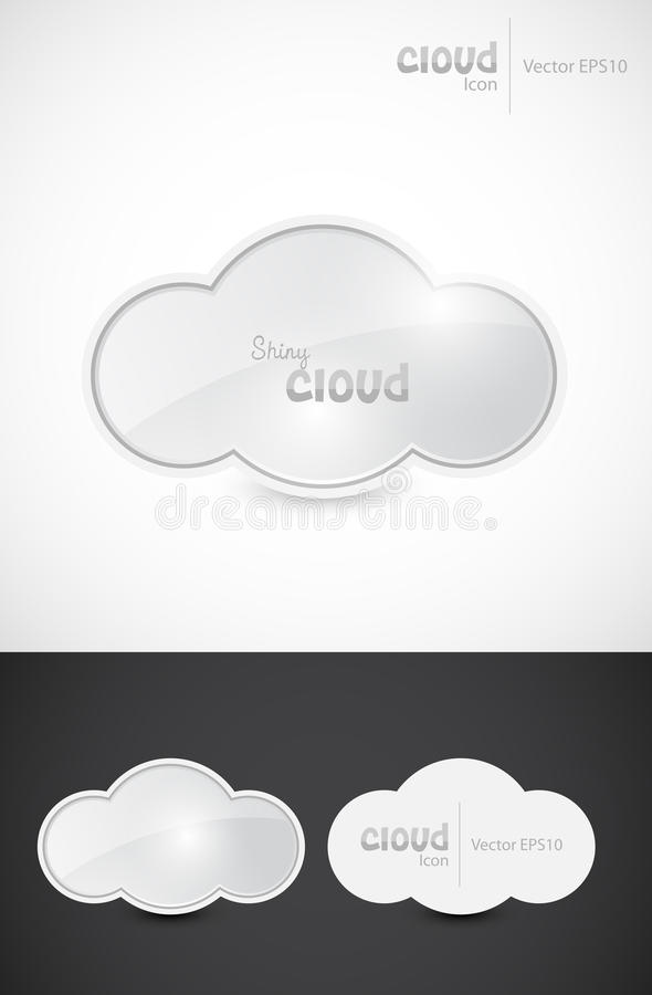 Shiny Cloud Signs Stock Photography