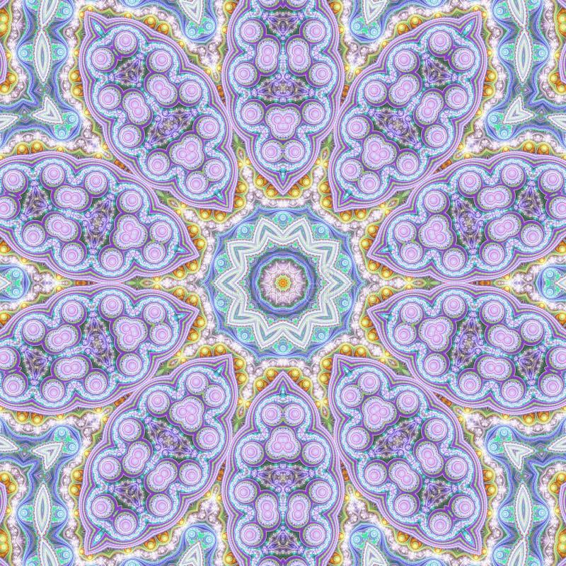 Shiny colorful mandala. Digital artwork for creative graphic design vector illustration