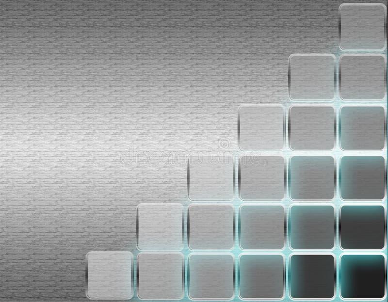 Download Shiny cubes stock vector. Image of metallic, shiny, wallpaper - 12447175