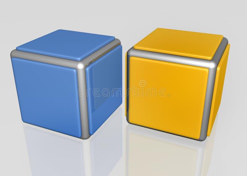 Download Shiny cubes stock illustration. Image of block, blue - 24665675